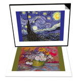Starry Night & Still-Life with Roses and Sunflowers by Van Gogh Set