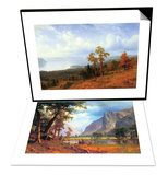 View of The Hudson River Valley & Yosemite Valley Set