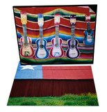Colorful Guitars Drying & Texas Lone Star Design on Barn Roof Set
