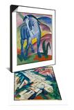 Blaues Pferd I  1911 & Mountains (Formerly Landscape)  1911/12 Set