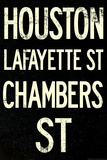 New York City Houston Chambers Vintage Subway