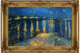 Starry Night Over the Rhone with Gilded Faux Frame Border