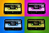 Audio Cassette Tapes Bright Pop