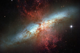 Happy Sweet Sixteen Hubble Telescope Starburst Galaxy M82 Space Photo