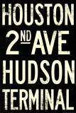 New York City Houston Hudson Vintage Subway RetroMetro