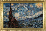 Starry Night with Gilded Faux Frame Border