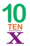 Number 10 with Roman Numeral Banner