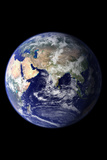 Planet Earth From Space Eastern Hemisphere Black Photo