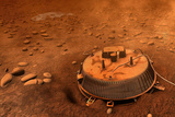 Huygens Probe on Titan Space