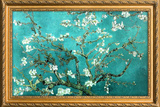 Van Gogh Almond Branches with Gilded Faux Frame Border