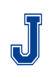 Varsity Letter J Make Your Own Banner