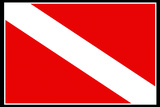 Scuba Diver Flag
