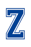 Varsity Letter Z Make Your Own Banner