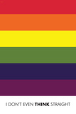 I Don't Even Think Straight (Gay Flag)