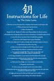 Dalai Lama Instructions For Life Blue Art