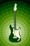 Electric Guitar Green Music Poster Print