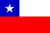 Chile National Flag Poster Print