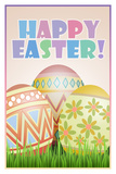 Happy Easter Art Poster Print