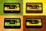 Audio Cassette Tapes Pop Art Print Poster