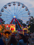 Rides at Indiana State Fair Midway  Indianapolis  Indiana