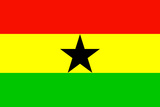 Ghana National Flag Poster Print