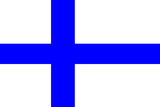 Finland National Flag Poster Print