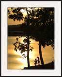 Kids Fishing at Sunset