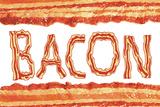 Bacon Flag Art Poster Print