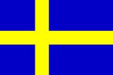 Sweden National Flag Poster Print