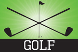 Golf Green Sports Poster Print