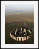 Aerial View of Stonehenge  Unesco World Heritage Site  Salisbury Plain  Wiltshire  England