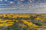 Badlands at Daybreak Near Fort Peck Reservoir  Jordan  Montana  Usa