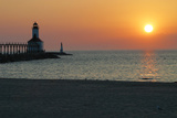Indiana Dunes lighthouse at sunset  Indiana Dunes  Indiana  USA