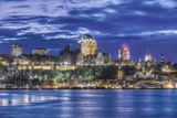 Canada  Quebec  Quebec City at Twilight
