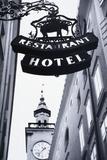 Austria  Salzburg  Hotel Sign