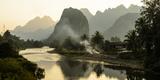 Laos  Vang Vieng River Scene