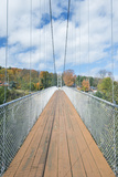 Canada  Quebec  Coaticook  Parc De La Gorge  Suspension Bridge
