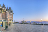Canada  Quebec  Quebec City  Dufferin Terrace at Dawn