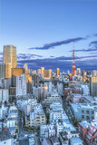 Japan  Tokyo  Roppongi  Sunset Skyline