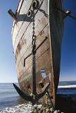 Chile, Punta Arenas, Shipwreck of Lonsdale Port Area Papier Photo par Walter Bibikow
