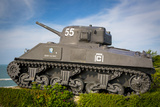Us Army Sherman Tank on Display at Arromanches-Les-Bains  France