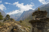 Nepal Valley Reaching Back into the Himalayas with a Chorten