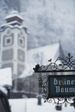 Austria  Salzkammergut  Hallstatt Church with Snow
