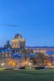 Canada  Quebec  Quebec City  Old Town at Twilight