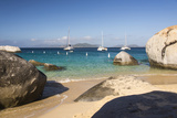 Bvi  Virgin Gorda  the Baths NP  Coastal Beach and Sail Boats