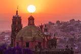 Mexico  San Miguel De Allende City Overview at Sunset
