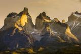 Cordillera Del Paine Granite Monoliths Torres Del Paine NP Chile