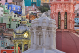 Mexico  Guanajuato Colorful Houses and Church Domes