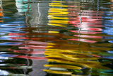 Abstract Reflection on the Riverwalk  San Antonio  Texas  Usa
