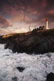 France  Brittany  Finistere  Saint-Mathieu Lighthouse at Dawn